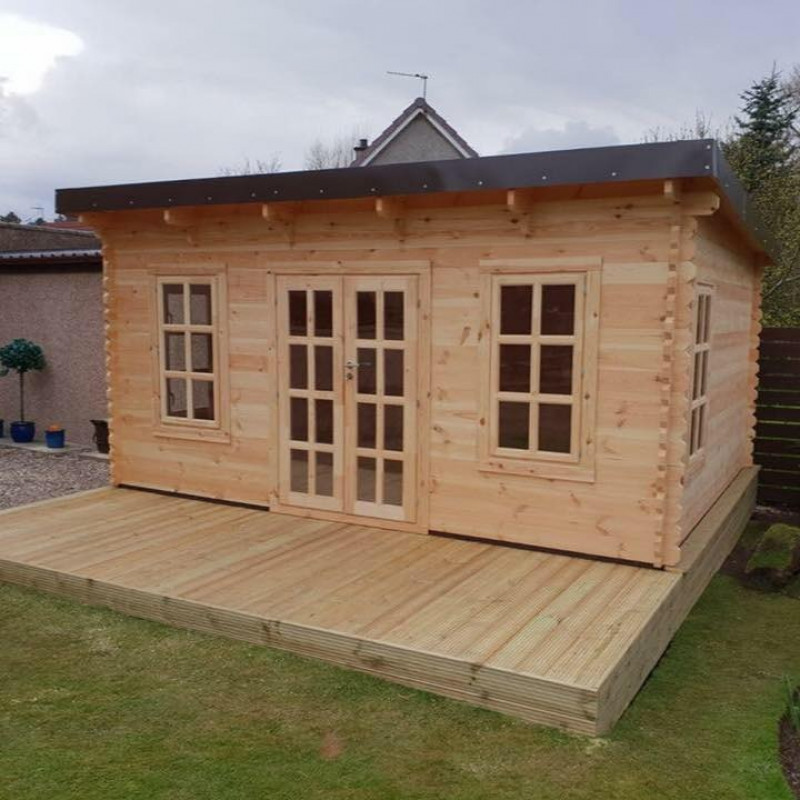 Summer house with decking area